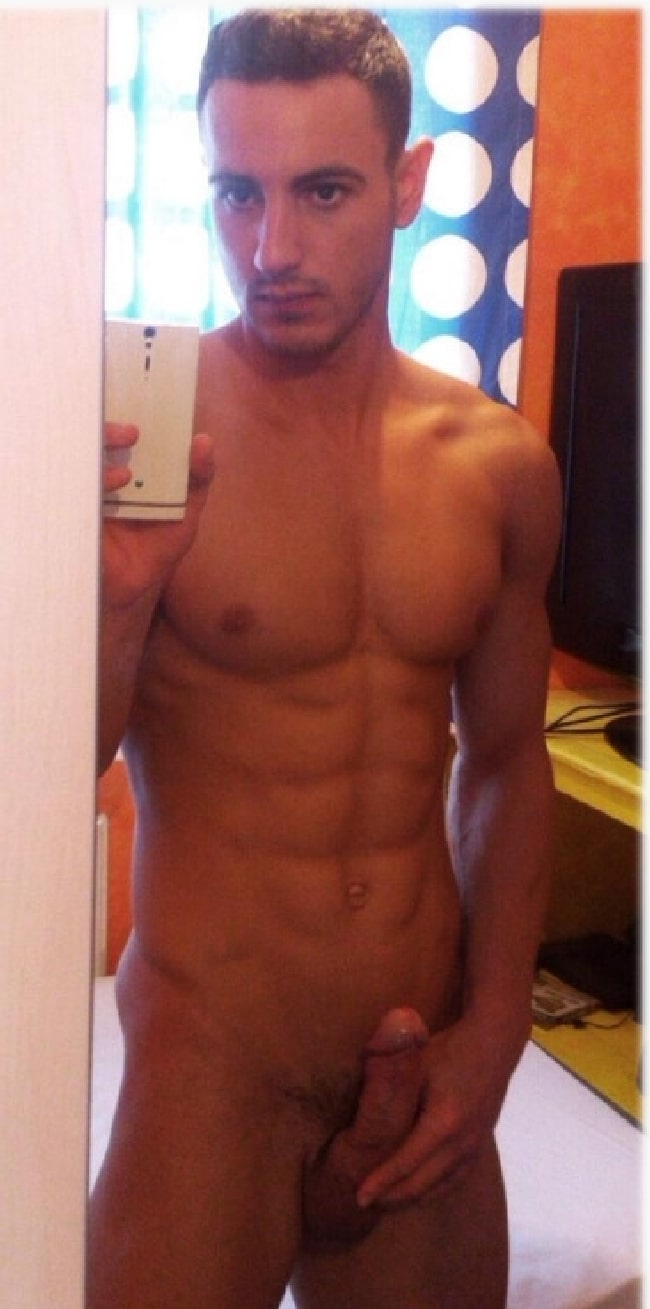 Sexy naked male selfie group