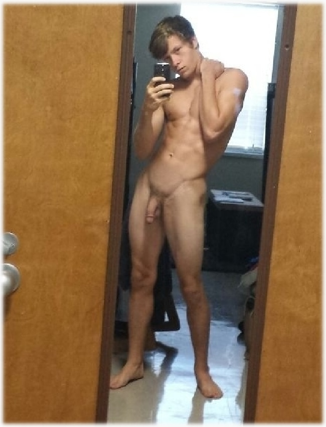 Slim Teen Boy With A Long Hard Cock - Nude Twink Gays.